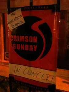 Plakat vom Crimson Sunday-Gig