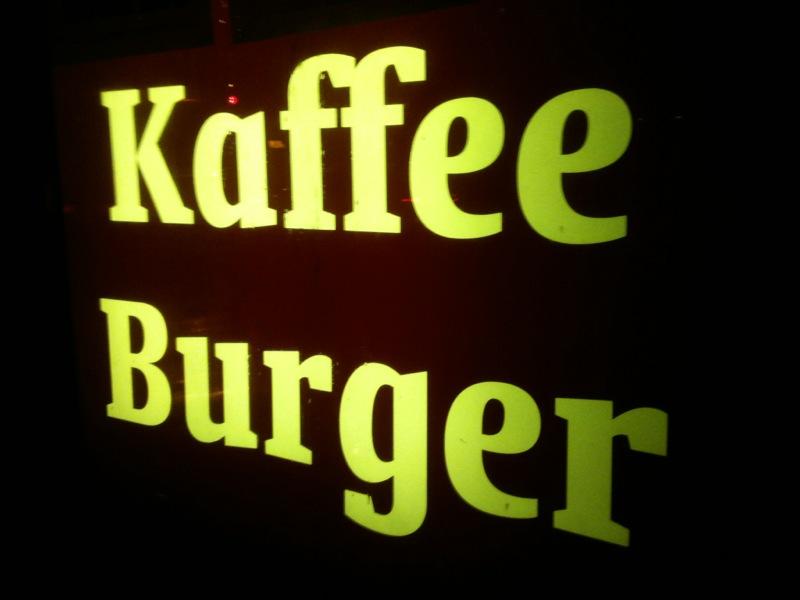 Schild Kaffee Burger