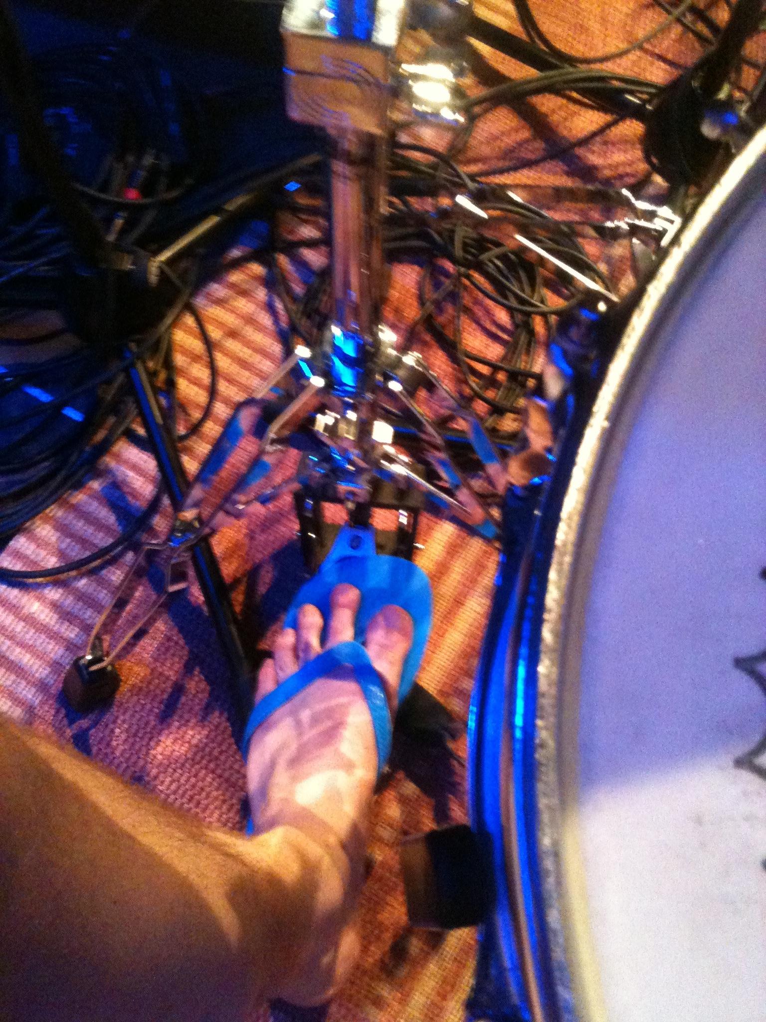 Tobias Bertram mit Flip Flops